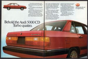 1985 AUDI 5000 CD Turbo Quattro